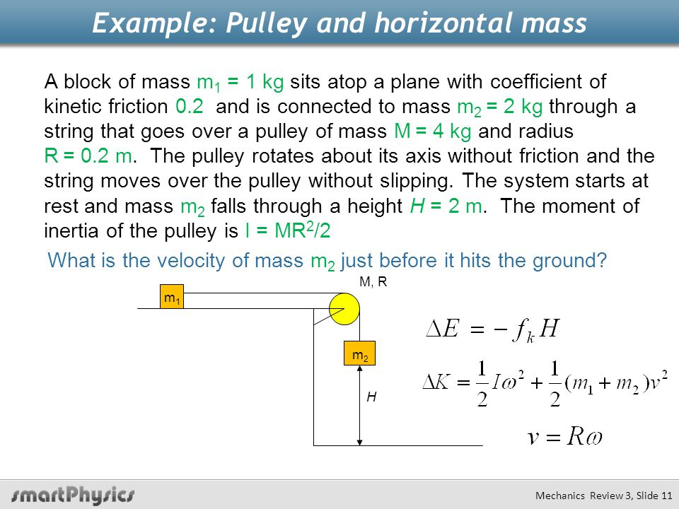 Example: Pulley and horizontal mass
