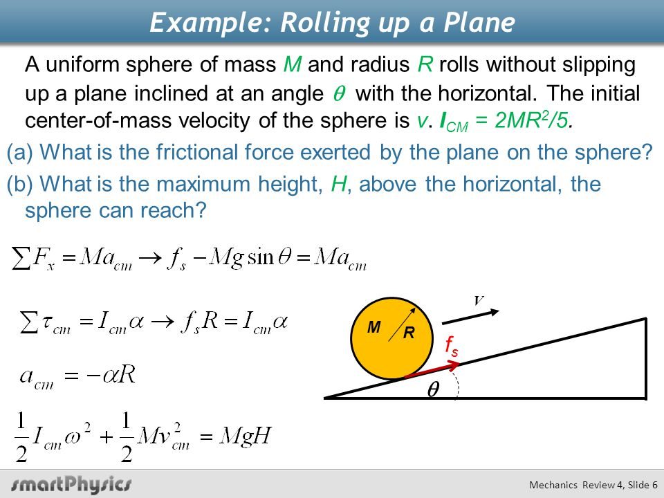 Example: Rolling up a Plane