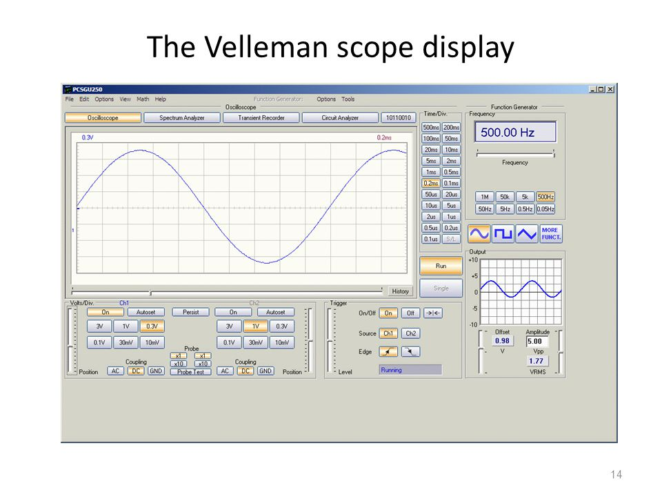 The Velleman scope display