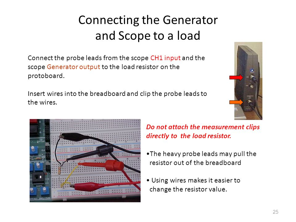 Connecting the Generator and Scope to a load