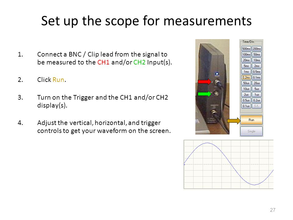 Set up the scope for measurements