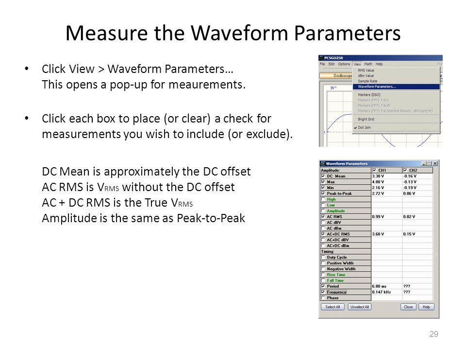 Measure the Waveform Parameters
