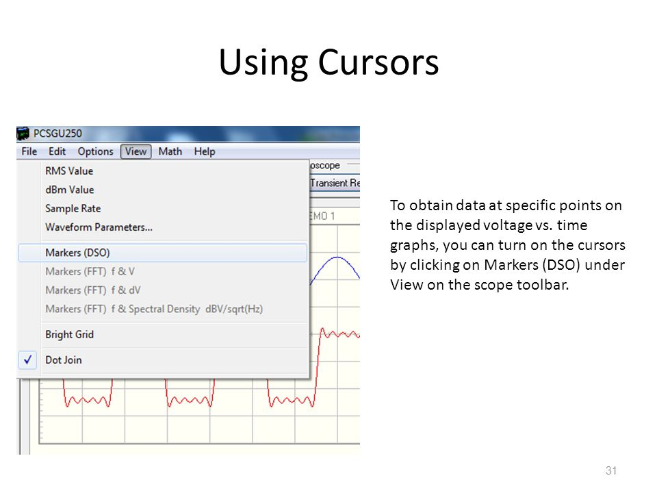 Using Cursors