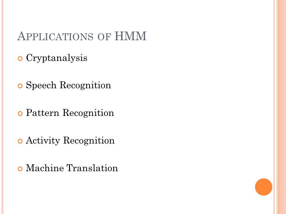 Applications of HMM Cryptanalysis Speech Recognition