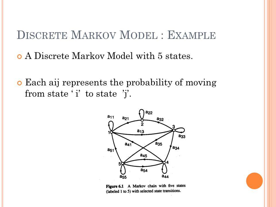 Discrete Markov Model : Example