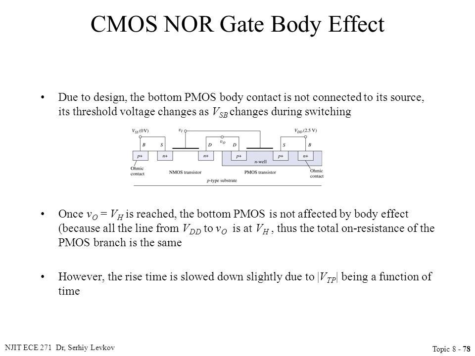 CMOS NOR Gate Body Effect