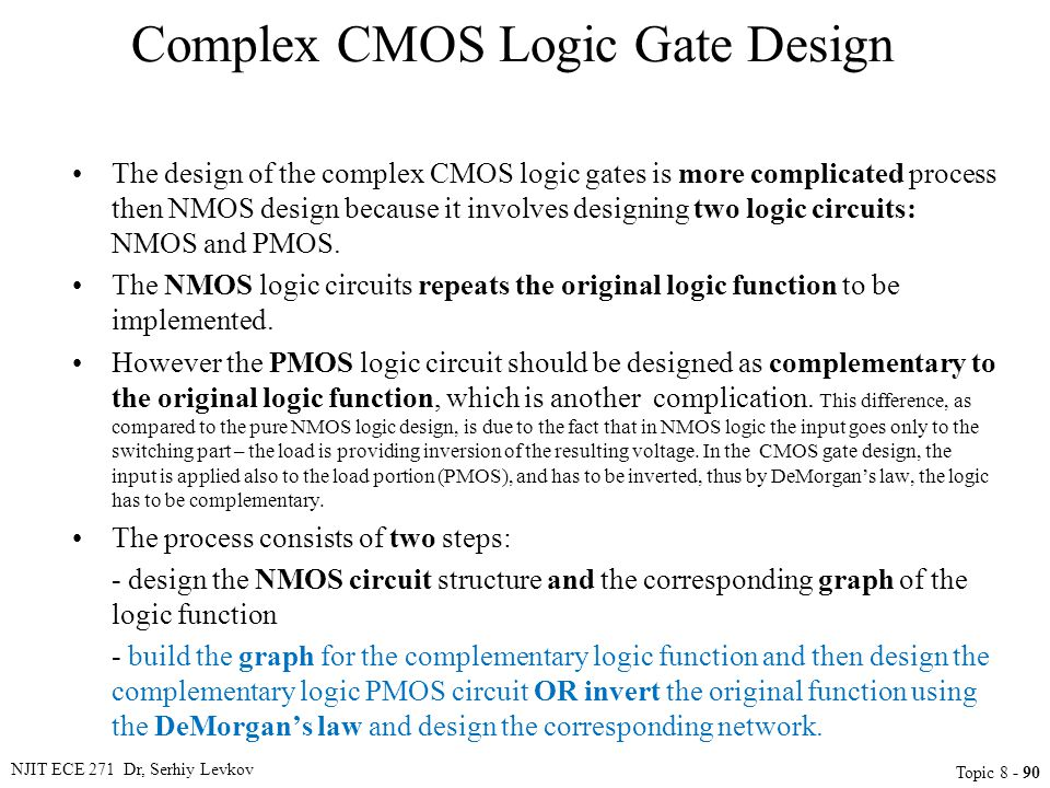 Complex CMOS Logic Gate Design