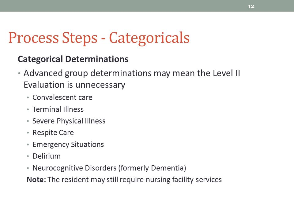 Process Steps - Categoricals