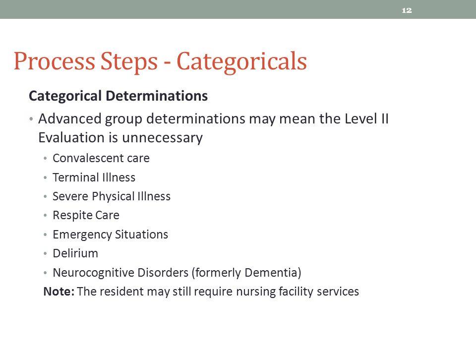 Process Steps - Categoricals