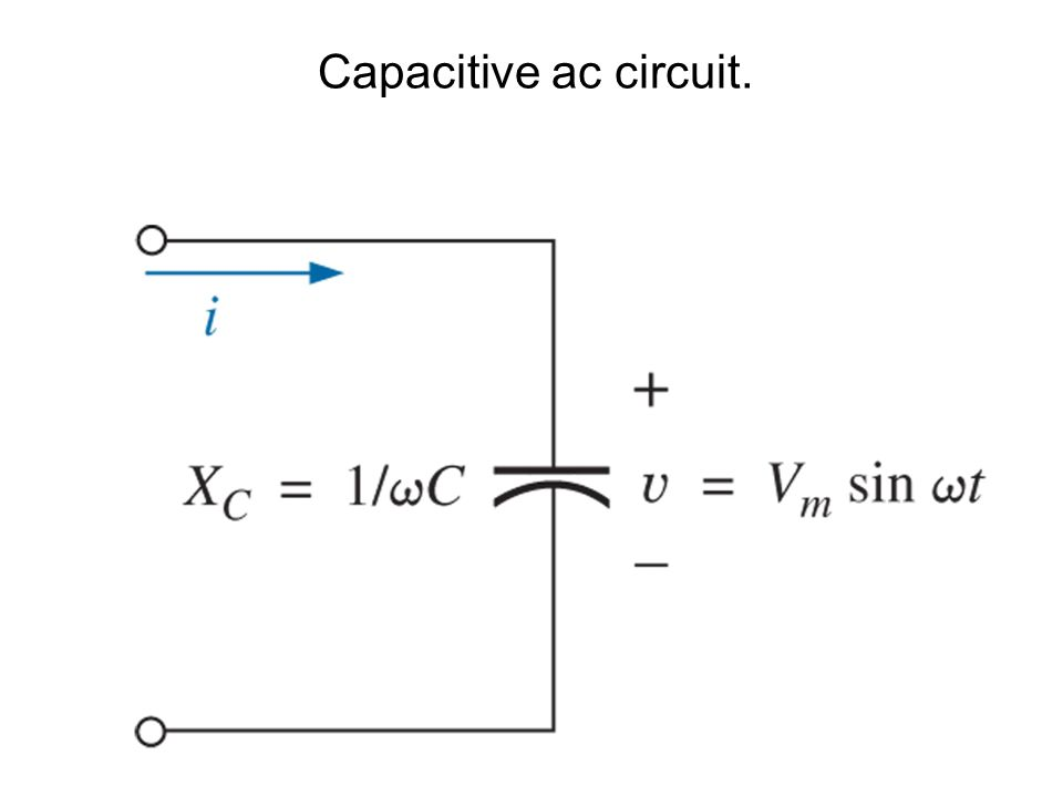 Capacitive ac circuit.