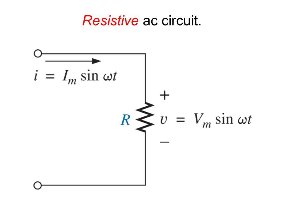 Resistive ac circuit.