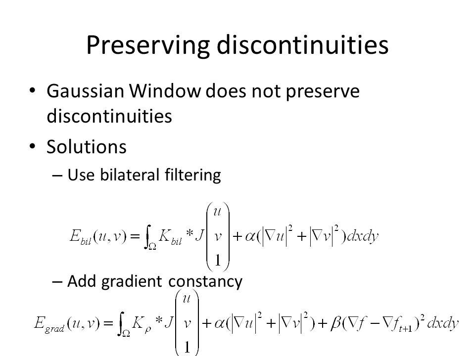 Preserving discontinuities