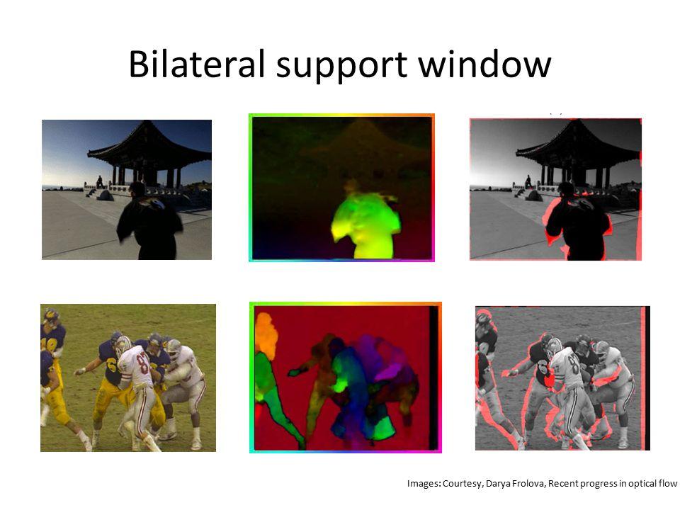 Bilateral support window