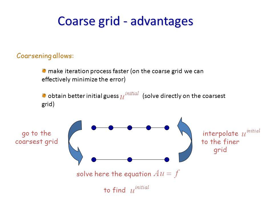 Coarse grid - advantages