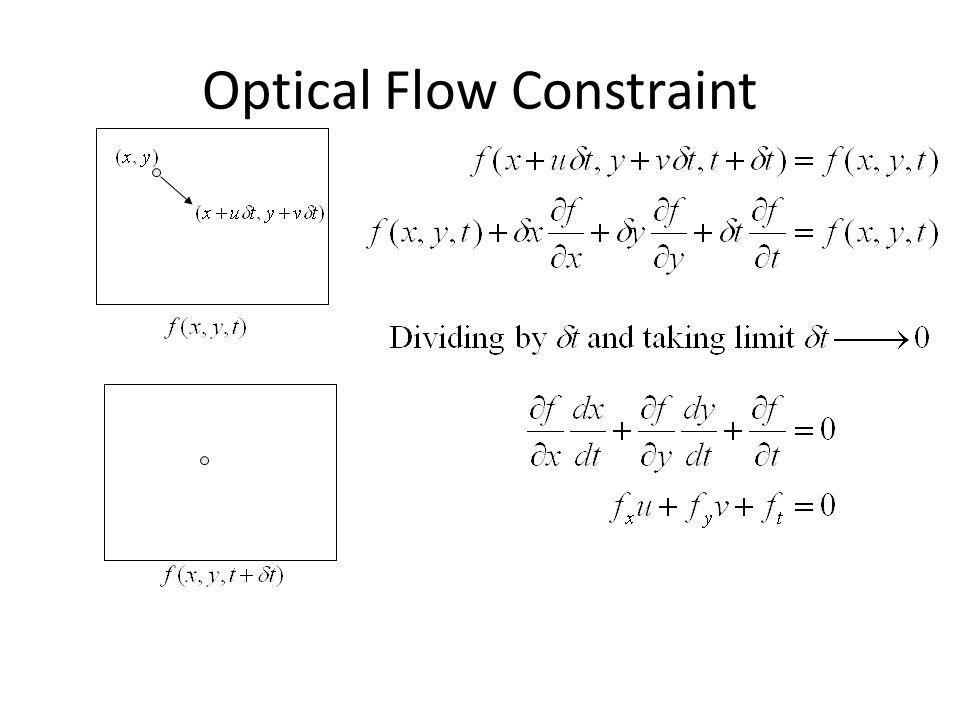 Optical Flow Constraint