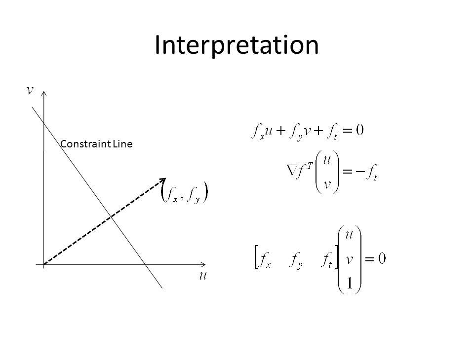 Interpretation Constraint Line