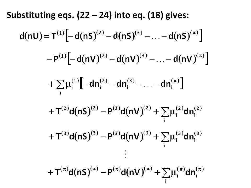 Substituting eqs. (22 – 24) into eq. (18) gives:
