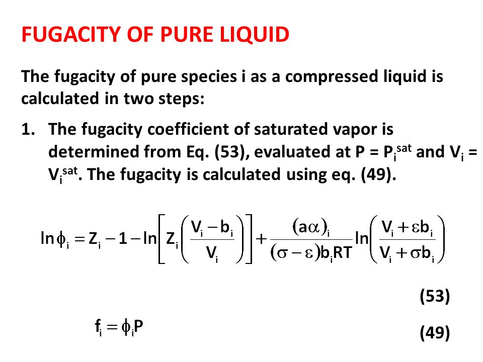 Chapter 4 FUGACITY. - ppt video online download
