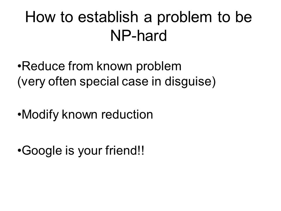 How to establish a problem to be NP-hard