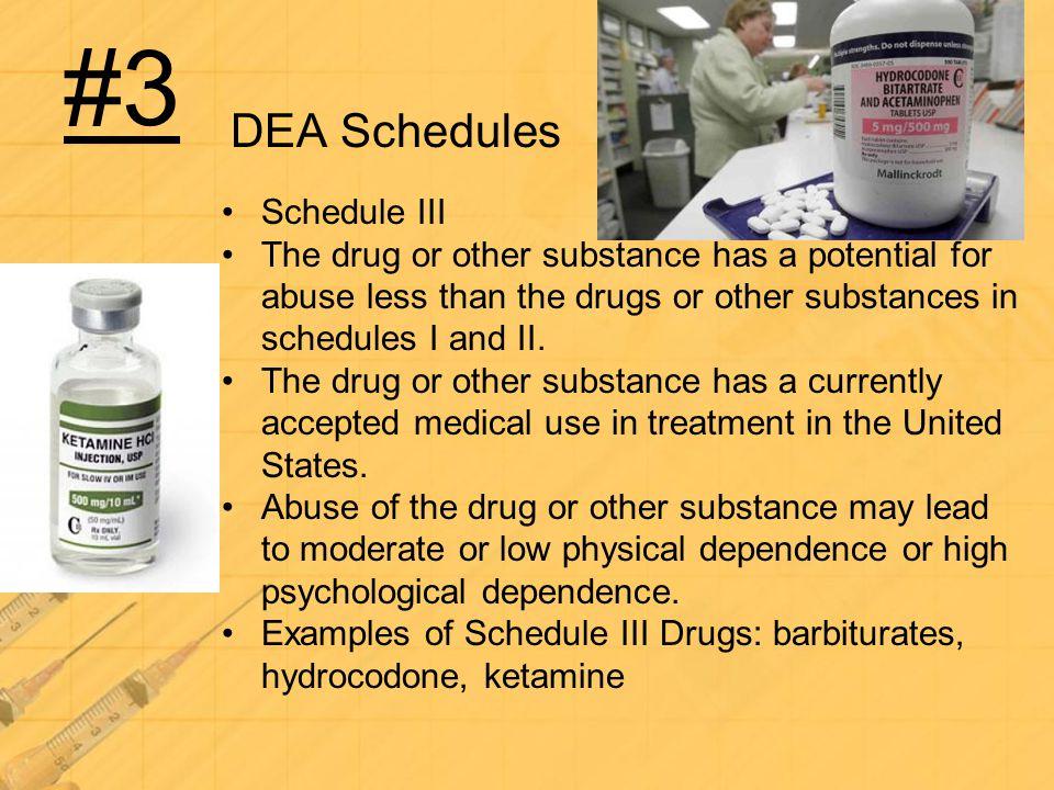 #3 DEA Schedules Schedule III