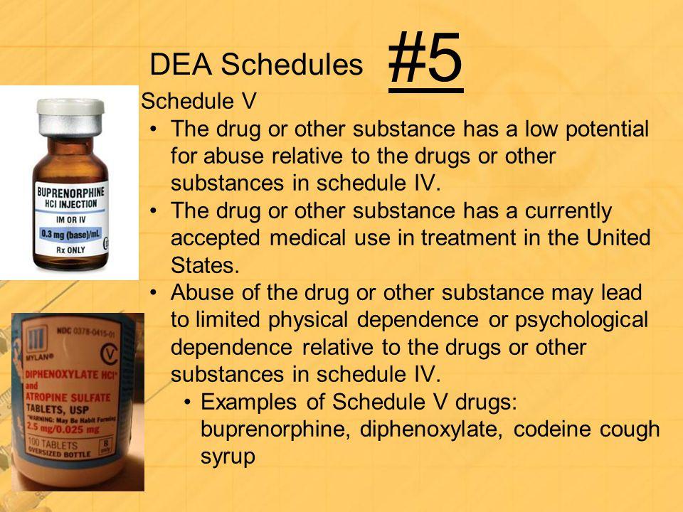 #5 DEA Schedules Schedule V