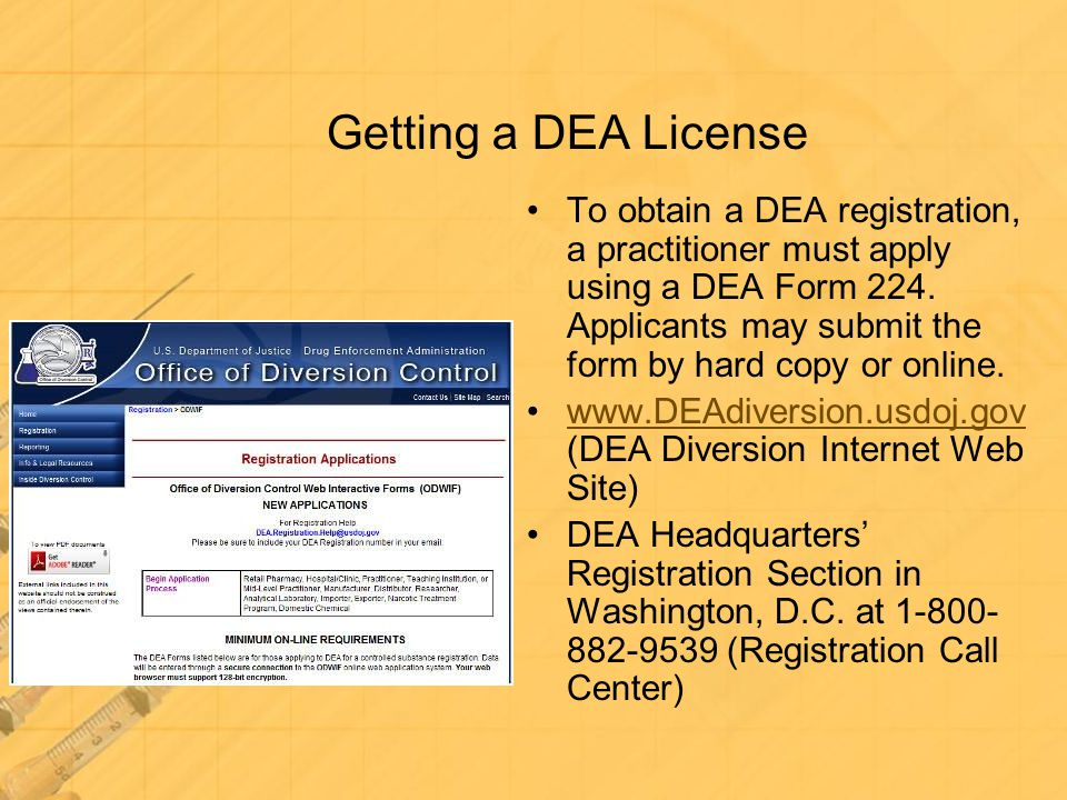 Getting a DEA License
