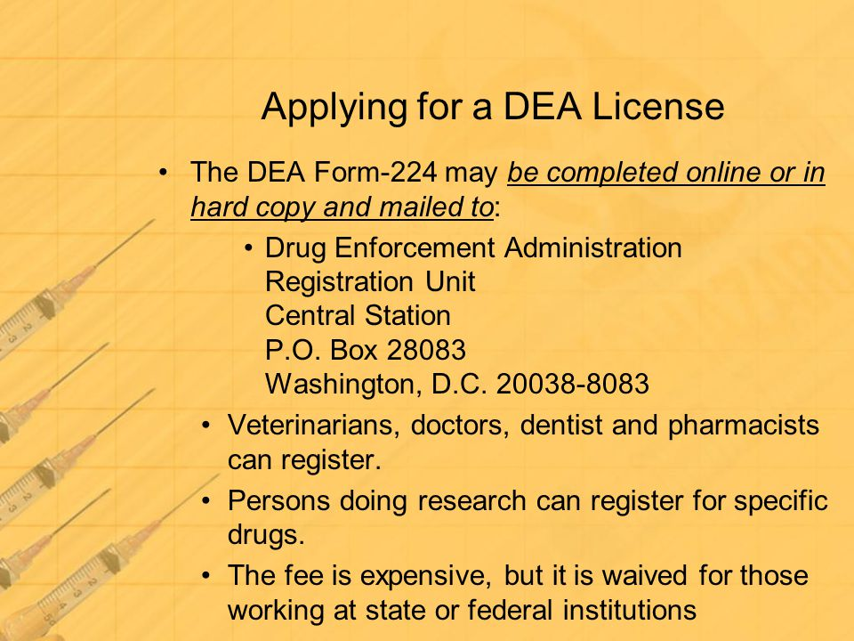 Applying for a DEA License