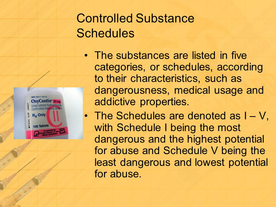 Controlled Substance Schedules