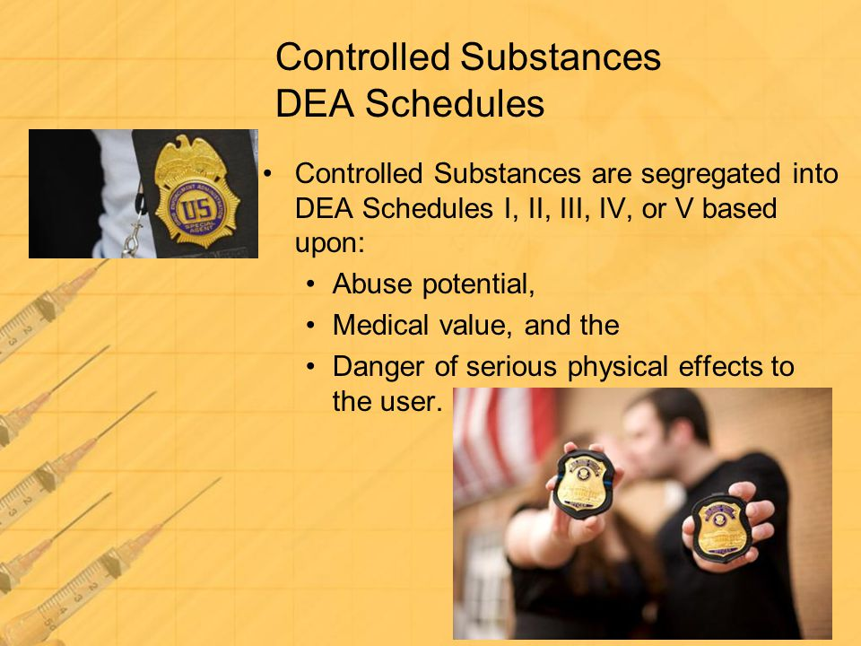 Controlled Substances DEA Schedules