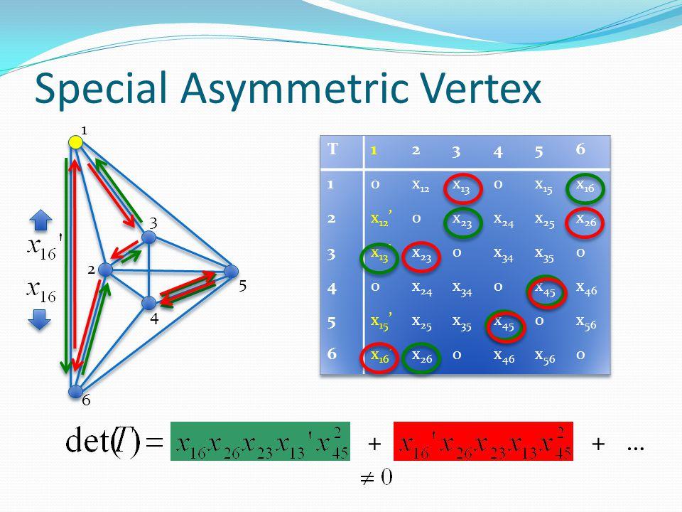 Special Asymmetric Vertex
