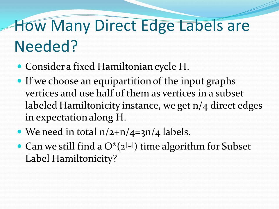 How Many Direct Edge Labels are Needed
