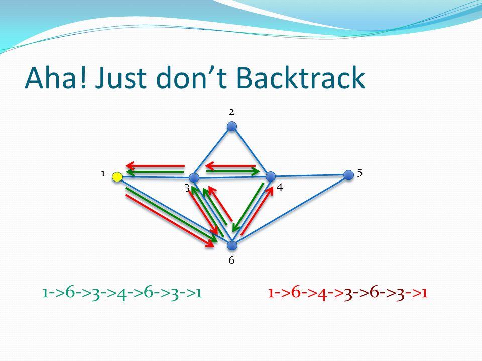 Aha! Just don't Backtrack