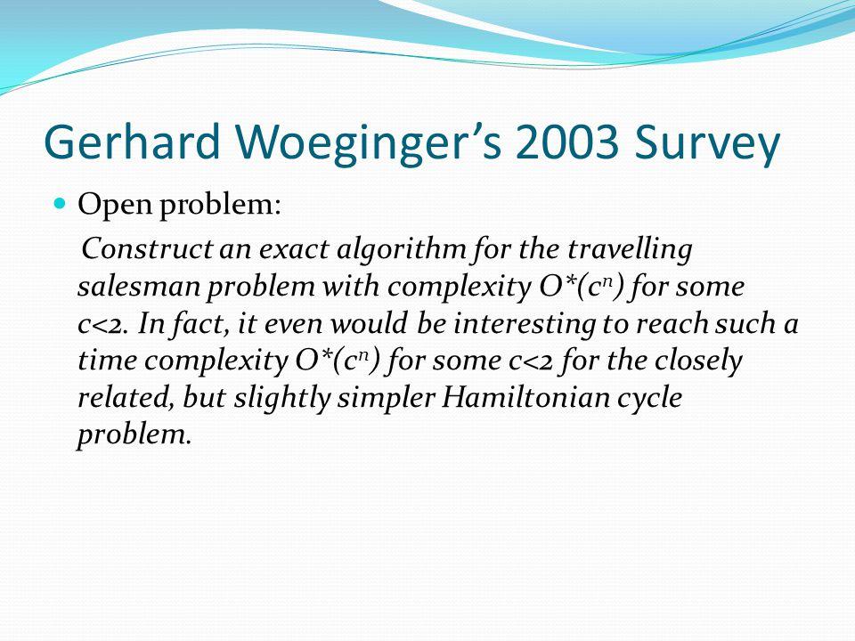 Gerhard Woeginger's 2003 Survey