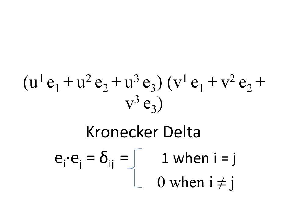 (u1 e1 + u2 e2 + u3 e3) (v1 e1 + v2 e2 + v3 e3)