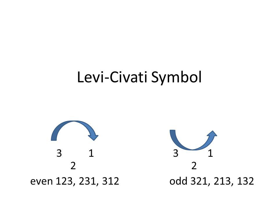 Levi-Civati Symbol 3 1 3 1 2 2.