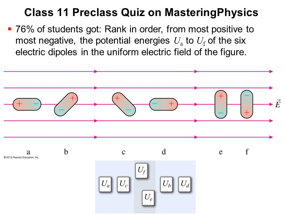 Class 11 Preclass Quiz on MasteringPhysics