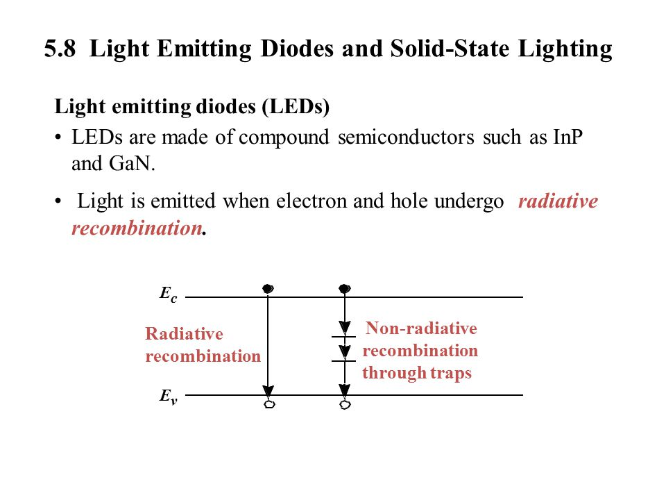 5.8 Light Emitting Diodes and Solid-State Lighting