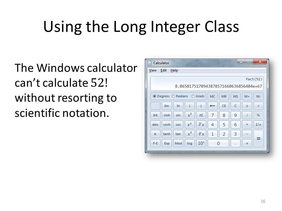 Using the Long Integer Class