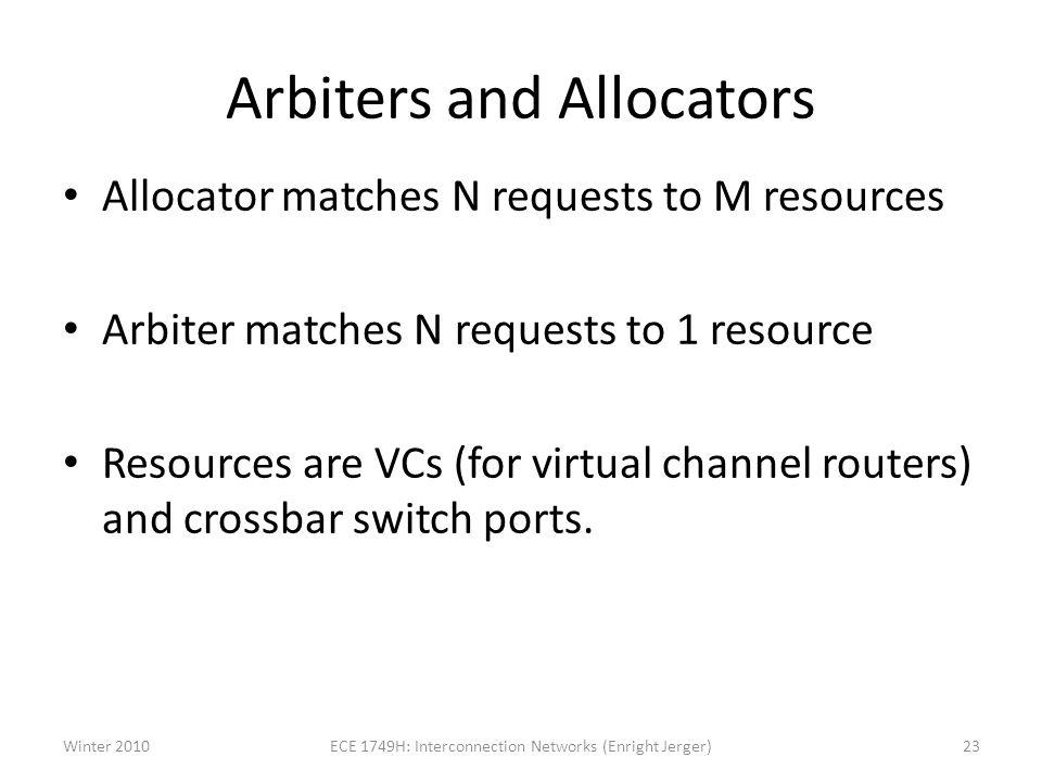 Arbiters and Allocators