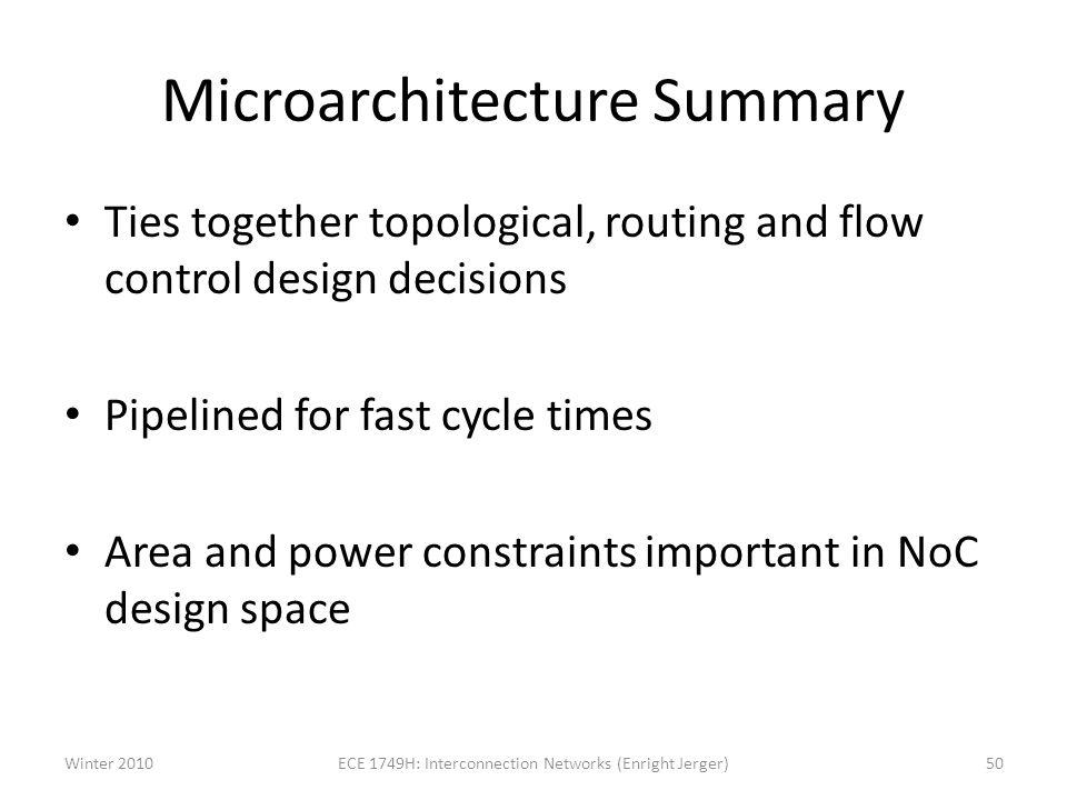 Microarchitecture Summary