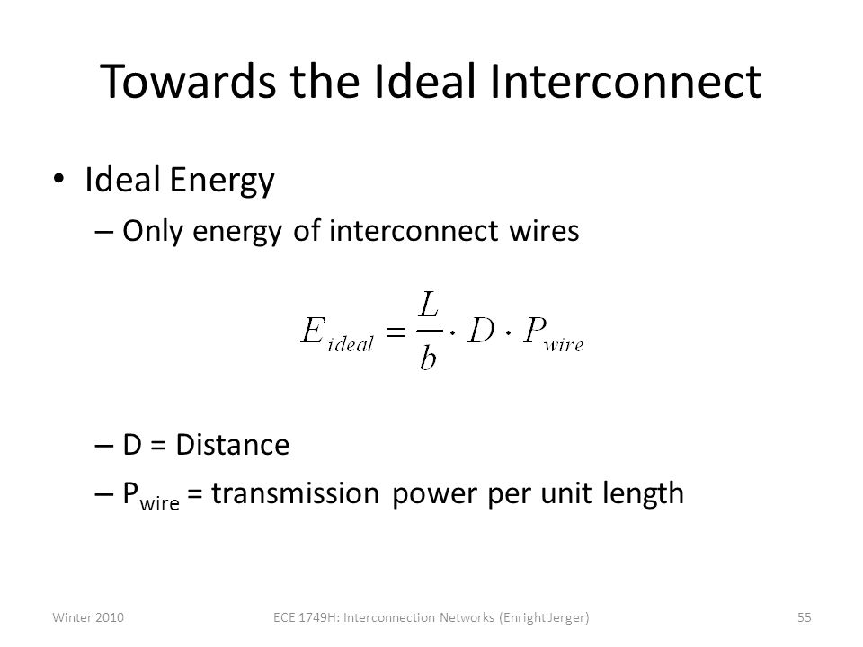 Towards the Ideal Interconnect