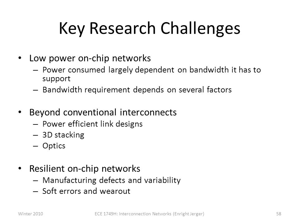 Key Research Challenges