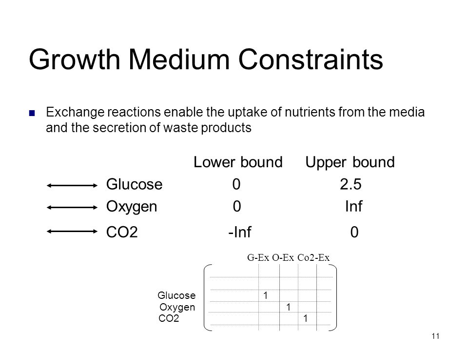 Growth Medium Constraints