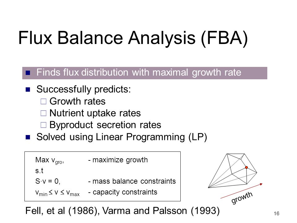 Flux Balance Analysis (FBA)