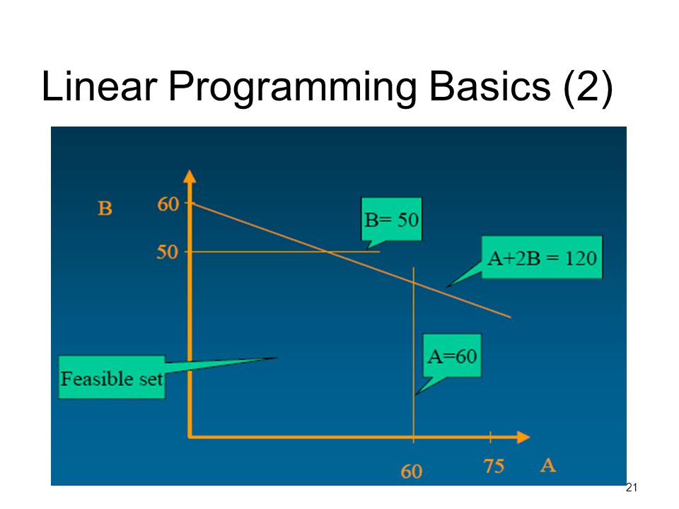 Linear Programming Basics (2)