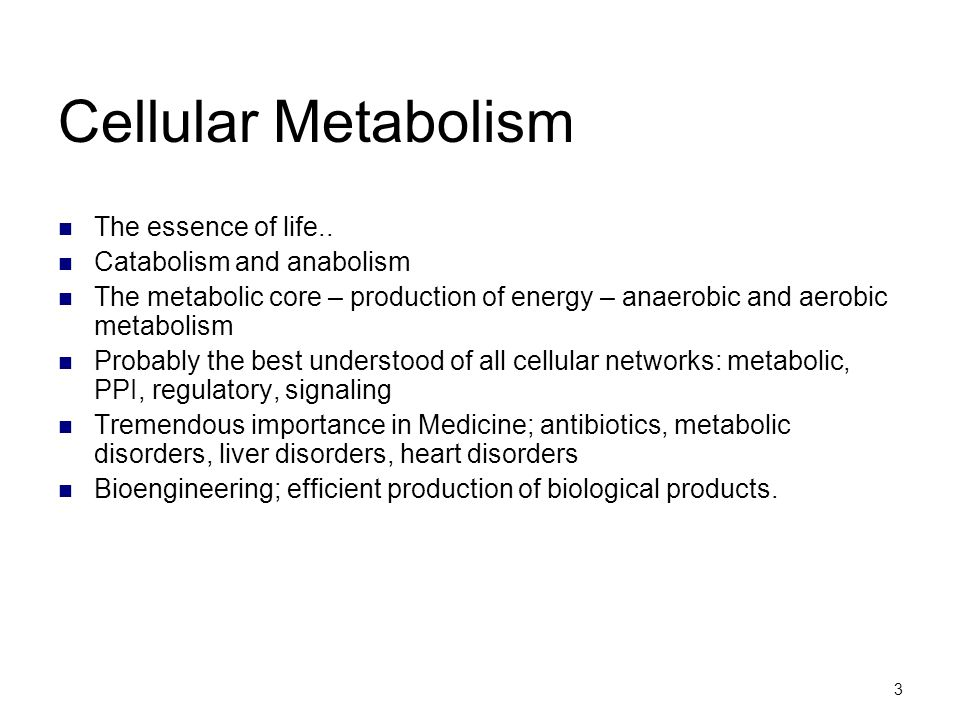 Cellular Metabolism The essence of life.. Catabolism and anabolism