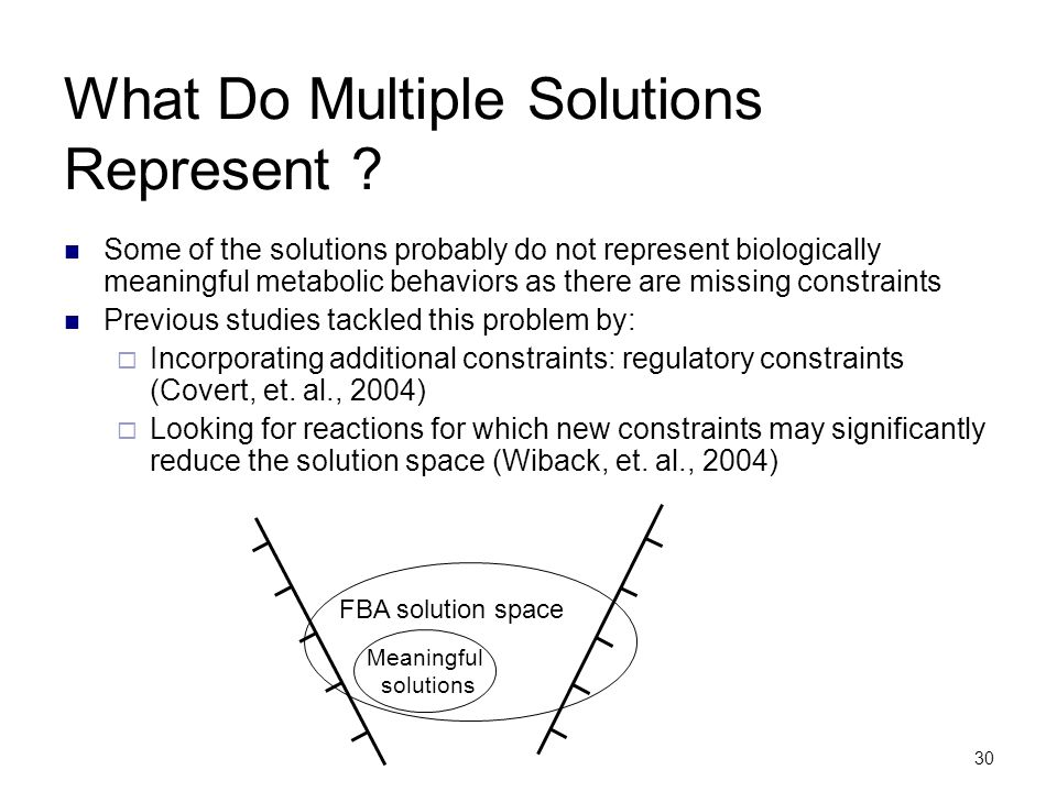 What Do Multiple Solutions Represent