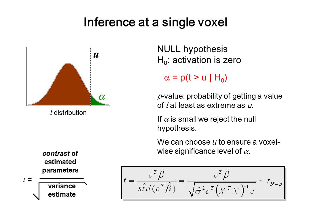 Inference at a single voxel