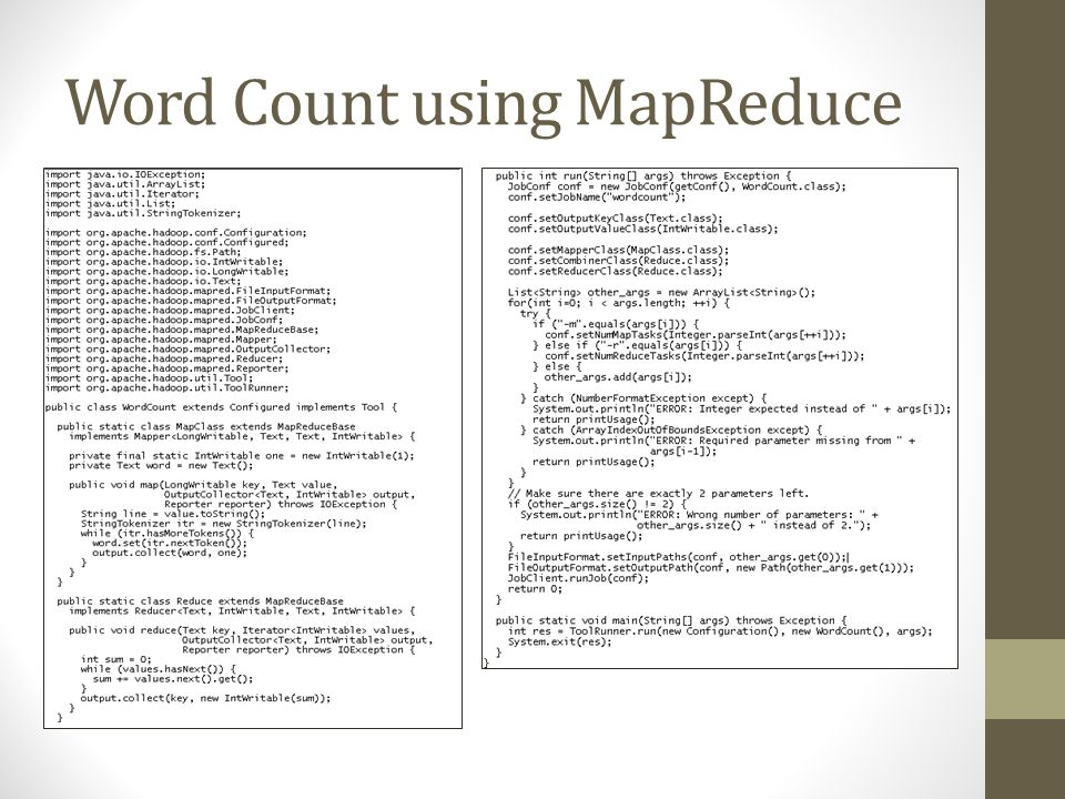 Word Count using MapReduce