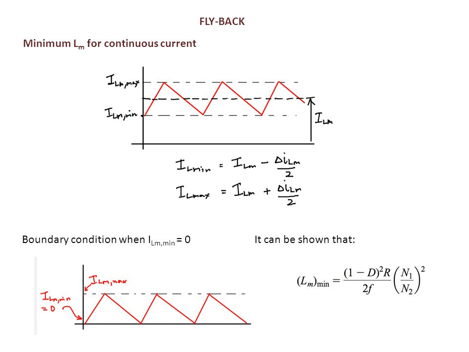 Minimum Lm for continuous current